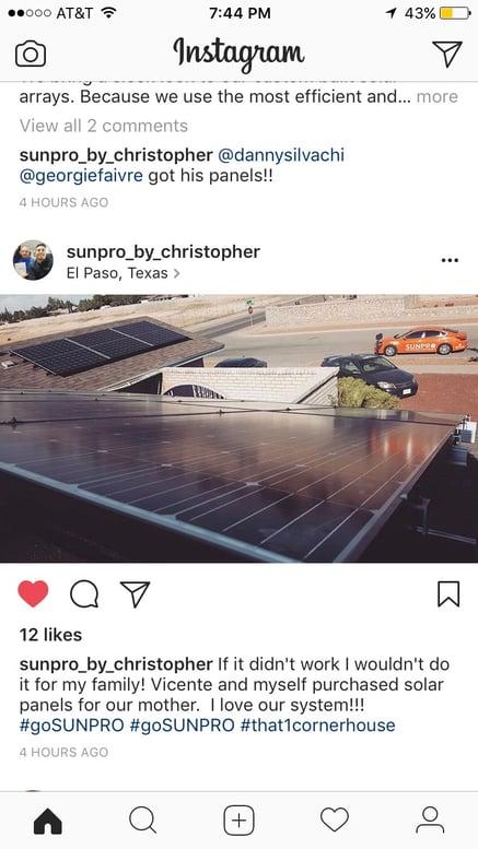 Solar for mom